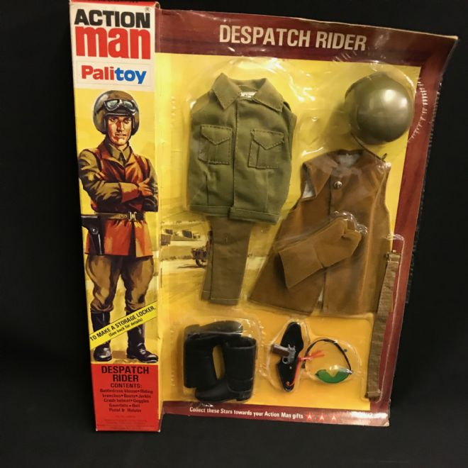 VINTAGE ACTION MAN - DESPATCH RIDER - Locker Box Card